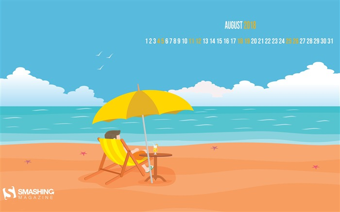 August 2018 Calendars Theme HD Desktop Views:4442