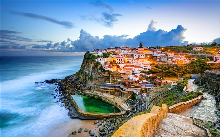 Seaside Scenery Tourist Town Sintra Portugal Views:233