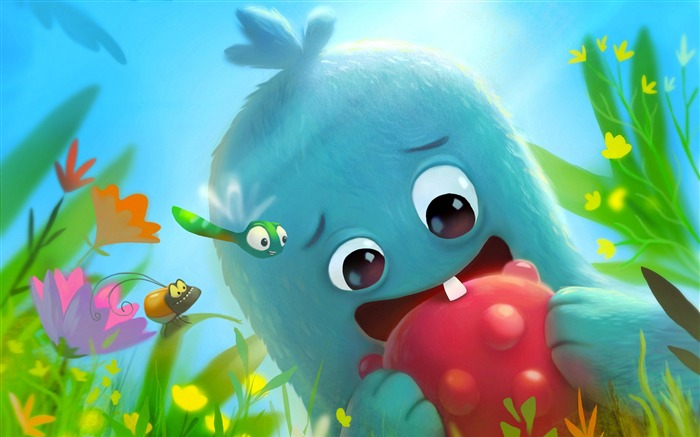 Cute Monster Illustration HD Theme Design Views:6536
