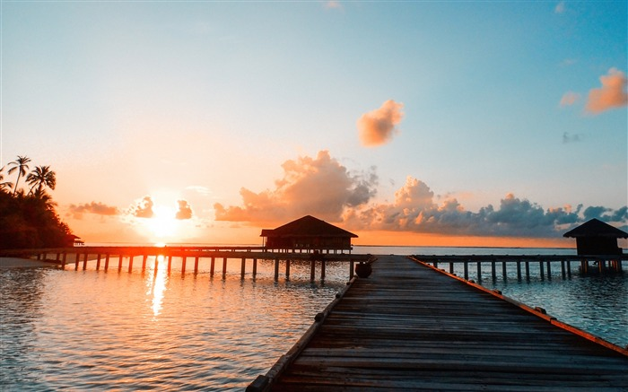 Maldives Resort Ocean Hotel Sunset Scenery Views:4058 Date:10/21/2018 8:12:57 AM