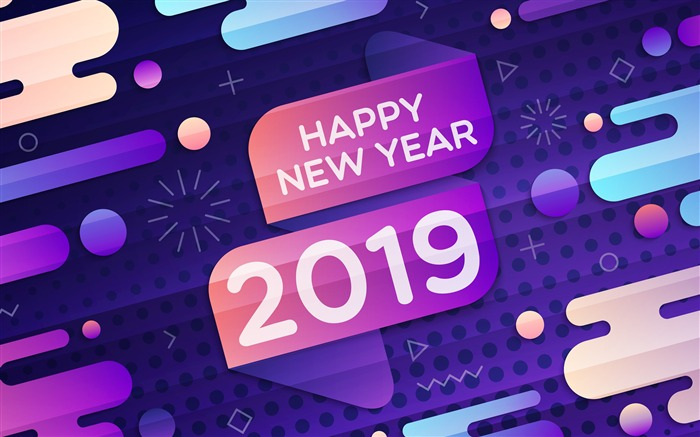 Happy New Year 2019 HD Theme Desktop Views:6467