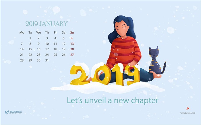 New Year Love You January 2019 Calendars Views:1604 Date:12/31/2018 8:56:00 AM