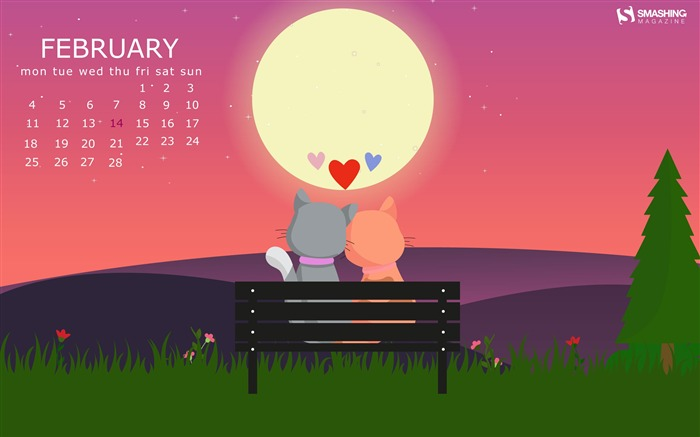February 2019 Calendars Desktop Theme Views:6622