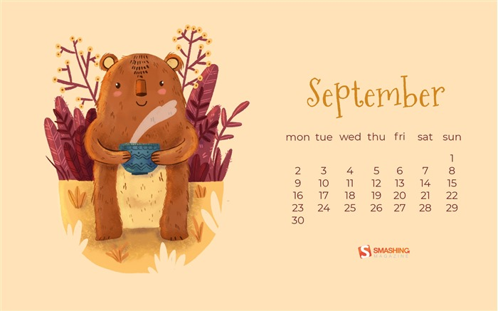 September 2019 Calendars Desktop Theme Views:5431