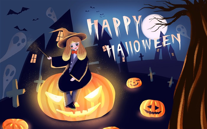 2019 Happy Halloween Festivals HD Desktop Views:3636