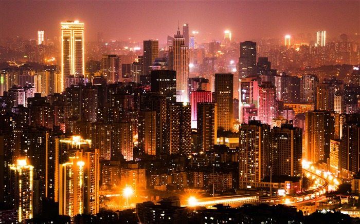 Chongqing Skyscraper Night HD Photography Views:3052 Date:11/6/2019 9:05:30 AM