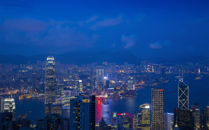 Hong Kong Victoria Harbour Night HD Photography Views:2334 Date:11/6/2019 9:02:24 AM