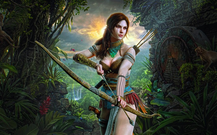 Lara Croft, Hunter Girl, 2019, Juego, Foto Vistas:3911