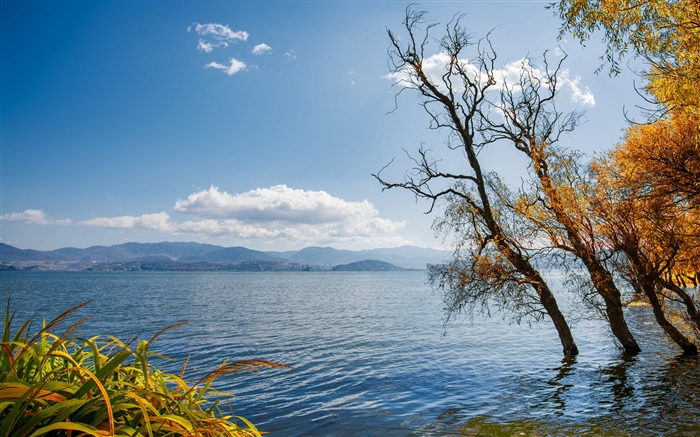 Autumn blue sky lake 2020 Nature Scenery Photo Views:3535 Date:3/27/2020 6:25:27 AM