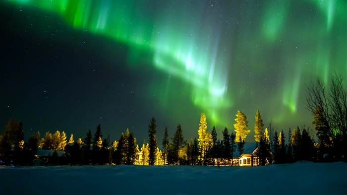 Finland Night Northern Lights 2020 Nature Scenery Photo Views:2628 Date:4/26/2020 8:01:09 AM