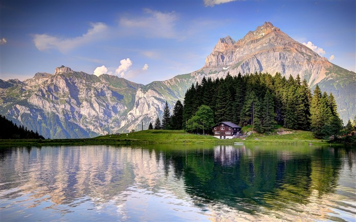 Swiss Alps Lake House 2020 Scenery HD Photography Views:4004 Date:5/7/2020 6:34:51 AM