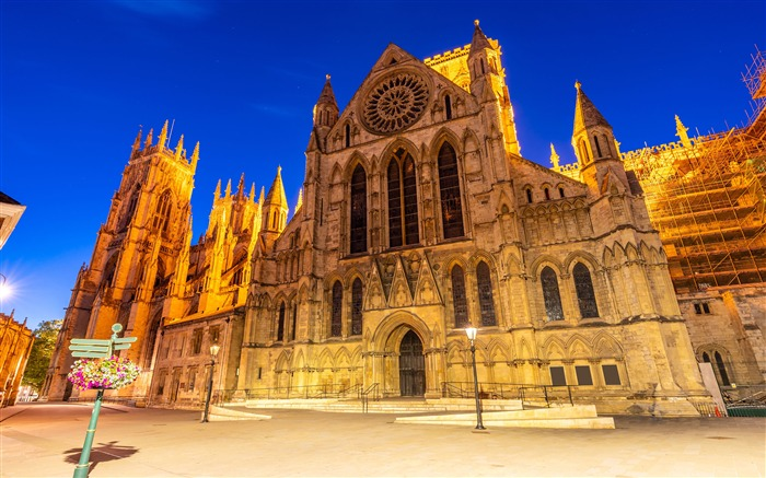 England Yorkminster Cathedral Night 2021 City Travel HD Photo Views:500 Date:1/2/2021 9:52:45 PM