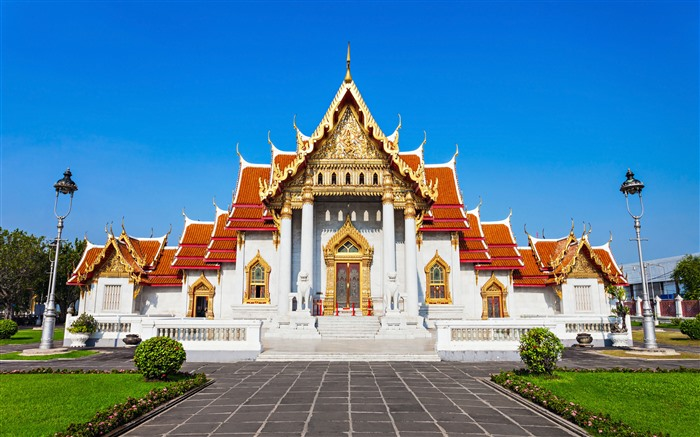Marble Temple Bangkok Thailand 2021 Travel HD Photo Views:1142 Date:2/10/2021 7:45:00 PM