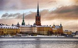 Title:City snow-Stockholm Sweden landscape photography HD wallpaper Views:24115