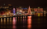 Title:Night view of the city-Stockholm Sweden landscape photography HD wallpaper Views:14774