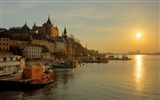Title:Riverside Sunset-Stockholm Sweden landscape photography HD wallpaper Views:7849