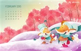 Title:February 2015 Calendar Widescreen Themes Wallpaper Views:9257