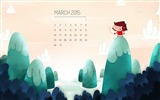 Title:March 2015 Calendar Wide Themes Wallpaper Views:4405